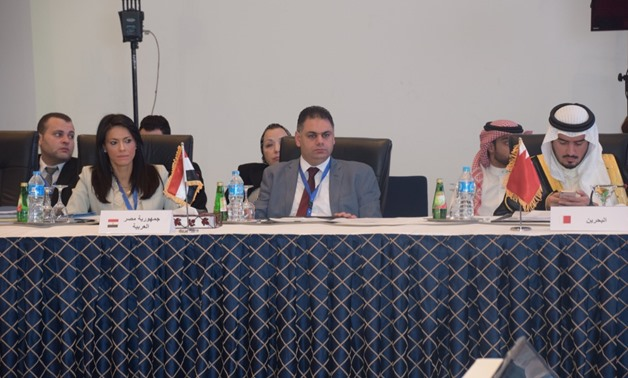 Tourism Minister Rania al-Mashat during her participation at the 44th meeting of the United Nations World Tourism Organization (UNWTO) Commission for the Middle East in Sharm El-Sheikh on May 8, 2018  – Press Photo