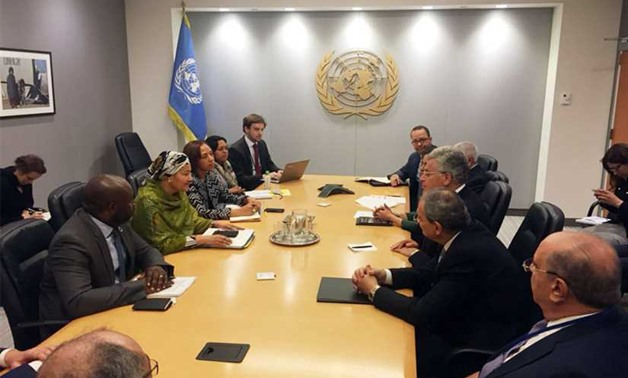 Egyptian high-profile delegation meets representatives of the United Nations in New York – press photo