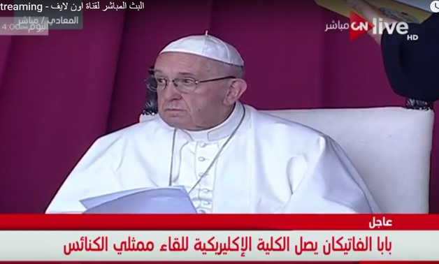Pope Francis meets with churches representatives in Egypt