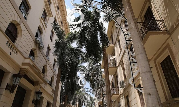 The newly-renovated Shereifein Street situated in Al Borsa district-Cairo Memory's official Facebook Page