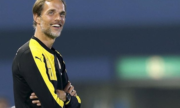 Borussia Dortmund's new coach Thomas Tuchel reacts during their friendly soccer match against Kawasaki Frontale as part of Borussia Dortmund's Asia Tour in Kawasaki, south of Tokyo, Japan, July 7, 2015. REUTERS/Yuya Shino