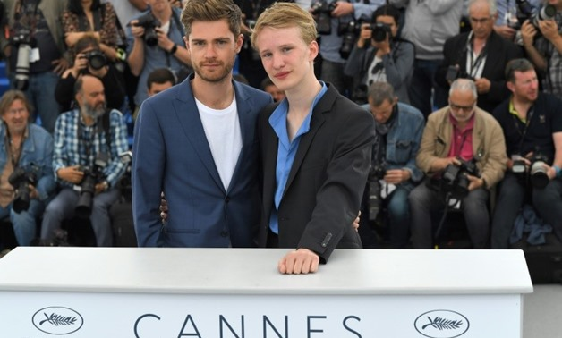 "Belgian director Lukas Dhont (left) put young Belgian actor Victor Polster through the hoops in ""Girl"" a jaw-dropping story about a transgender ballerina trapped inside a boy's body-AFP / LOIC VENANCE"