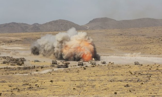 Soldiers from the 3rd Armored Brigade Combat Team (3rd BCT), 1st Cavalry Division (1 CD) detonate a mine-clearing line charge during live-fire training at the National Training Center at Fort Irwin, California, in October 2016. (Photo Credit: U.S. Army)