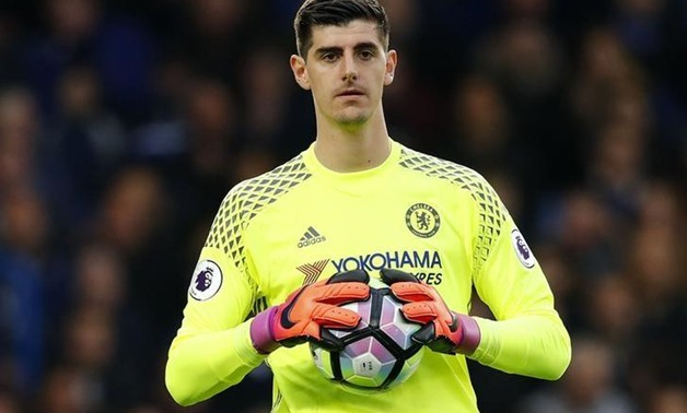 Britain Soccer Football - Chelsea v Manchester United - Premier League - Stamford Bridge - 16/17 - 23/10/16 Chelsea's Thibaut Courtois Reuters / Eddie Keogh