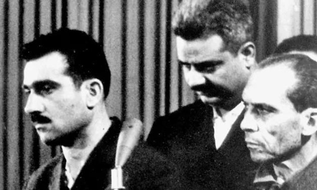 The trial of Eli Cohen (left), Damascus, 1965 - AFP
