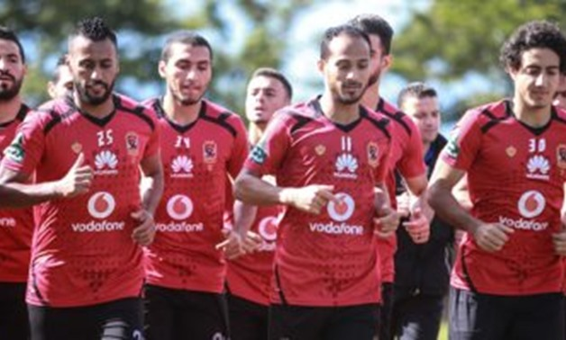 FILE – Al-Ahly's team in the training