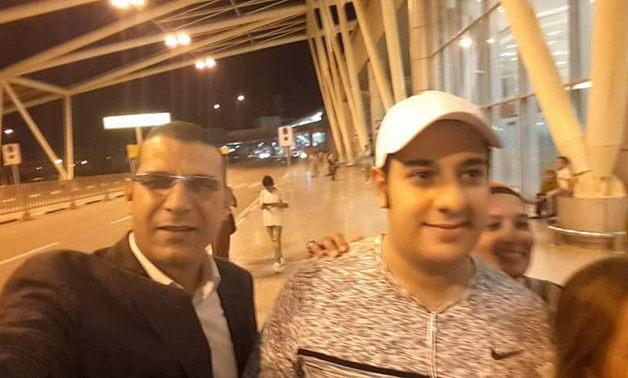 Police officer Al-Haies returns Egypt after treatment – Youm7 photo