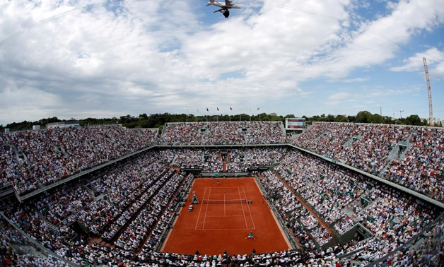 FILE PHOTO: Tennis - French Open - Roland Garros, Paris, France - June 11, 2017 General view during the final between Switzerland's Stan Wawrinka and Spain's Rafael Nadal Reuters / Gonzalo Fuentes/File Photo