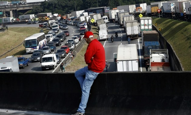 Truckers have attempted to put a stranglehold on movement of goods in Brazil to protest fuel price rises