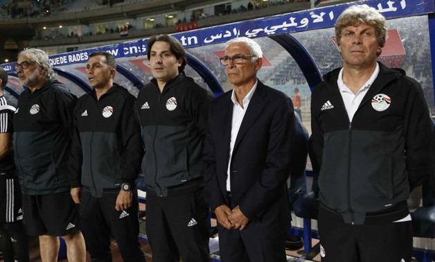 FILE – Egyptian national team coaching staff