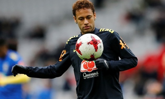 Soccer Football - International Friendly - Brazil vs Japan - Stade Pierre-Mauroy, Lille, France - November 10, 2017 Brazil's Neymar warms up before the match REUTERS/Pascal Rossignol