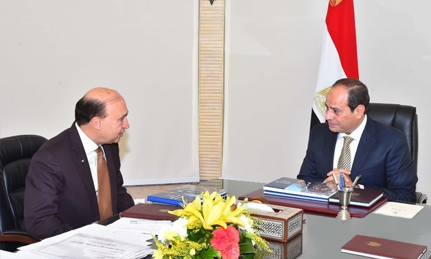 The meeting between SCZone Chairman Mohab Mamish and President Abel Fatah al-Sisi - Press Photo