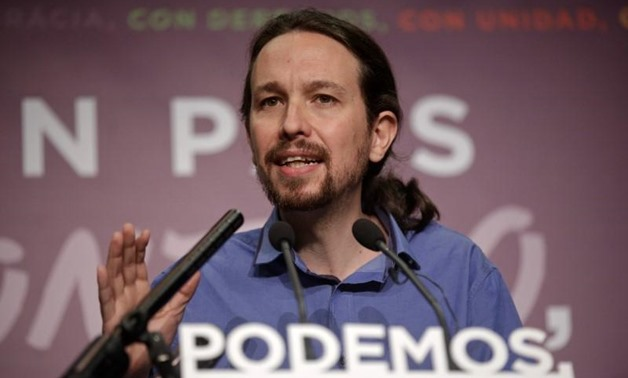 Podemos (We Can) party leader Pablo Iglesias speaks during a news conference in Madrid, Spain, December 21, 2015. REUTERS/Andrea Comas