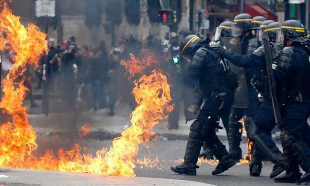 French protests - Reuters