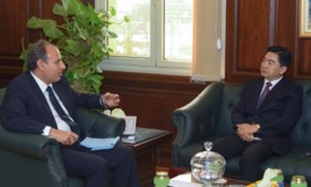 Mohamed Sultan Alexandria Governor during his meeting with Xu Nanshan China's Consul General in Alexandria - File Photo