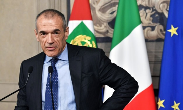 Carlo Cottarelli is charged with forming a caretaker government but populists have vowed to block it