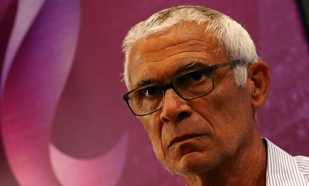 Egypt's national football team's head coach Hector Cuper reacts during a news conference at the Egyptian Federation about his team's preparations for the 2018 FIFA World Cup, in Cairo, Egypt May 14, 2018. REUTERS/Amr Abdallah Dalsh