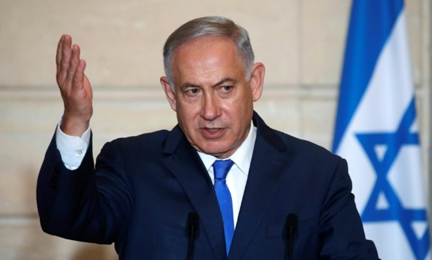 """""""If he fires at us, as we've just demonstrated, we will destroy his forces,"""" Netanyahu said of Assad at an event organised by the Policy Exchange think tank in London"""