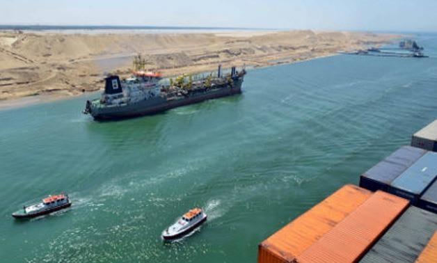 A ship transiting through Suez Canal - SCA