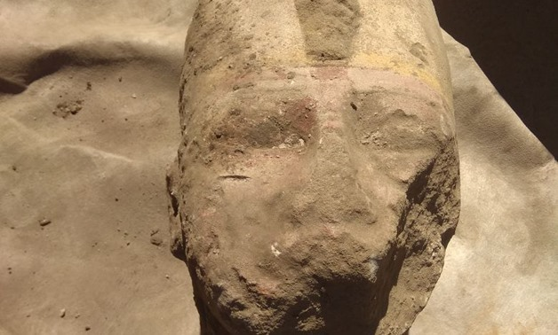 Newly discovered parts of the statue of Ramses II in the        Temple of KomOmbo, Aswan – Photo courtesy of Ministry of        Antiquities' official statement.