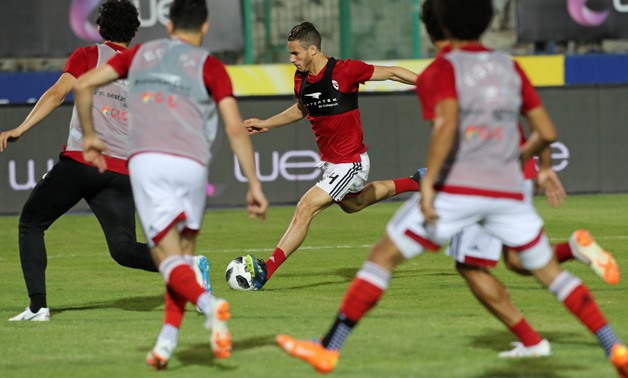 Soccer Football - FIFA World Cup - Egypt Training - Cairo Stadium, Egypt - June 9, 2018 - EgyptÕs Ramadan Sobhi in action during training in Cairo international stadium in Cairo. REUTERS/Mohamed Abd El Ghany