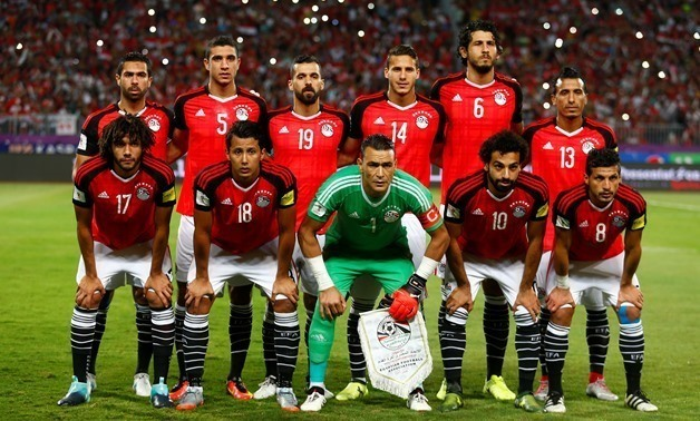 File, Egypt national team pose ahead of their game against Uganda, Reuters