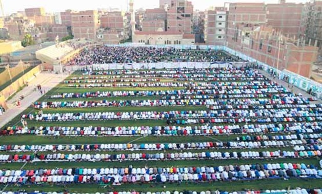 Egyptian perform Eid al-Fitr prayer in Beheira- Mohamed ElHosary