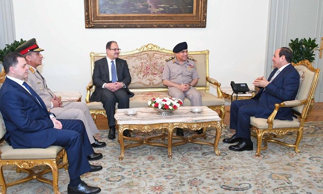 President Abdel Fatah el-Sisi held talks with former and new ministers of Defense and Interior - Press photo