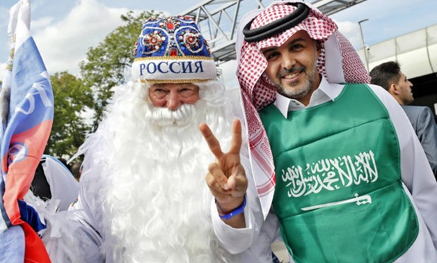 Russian fan and Saudi Arabian fan- FIFA