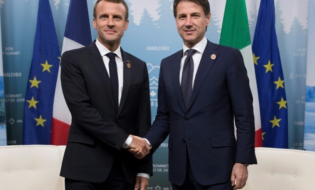 French President Emmanuel Macron and Italian Prime Minister Guiseppe Conte will meet for talks over lunch on Friday after tensions eased between the two countries