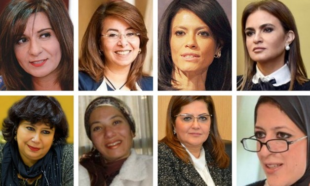 The female ministers in Mostafa Madbouly's Cabinet - Photo compiled by Egypt Today/Mohamed Ezzat