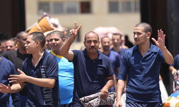 Prisoners released per presidential pardon on first day of Eid al-Fitr on June 15, 2018 - Hazim Abdel Samad