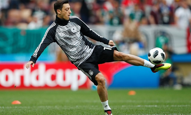 Soccer Football - World Cup - Group F - Germany vs Mexico - Luzhniki Stadium, Moscow, Russia - June 17, 2018 Germany's Mesut Ozil during the warm up before the match REUTERS/Axel Schmidt