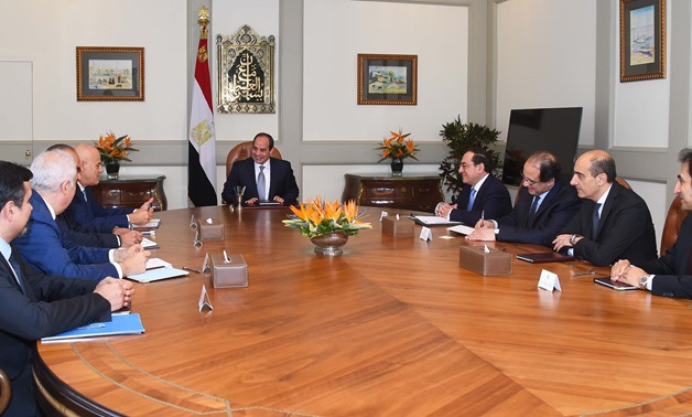 During Sisi's meeting with CEO of Eni - Press photo