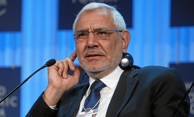 File- Egyptian Islamist politician and former Presidential candidate Abdel Moneim Aboul Fotouh