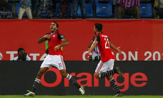 Egypt's Mahmoud Kahraba celebrates after scoring a goal. REUTERS/Amr Abdallah Dalsh