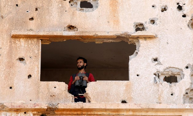 A fighter from the Free Syrian Army is seen in Yadouda area in Deraa, Syria May 29, 2018. REUTERS/Alaa Al-Faqir/File Photo