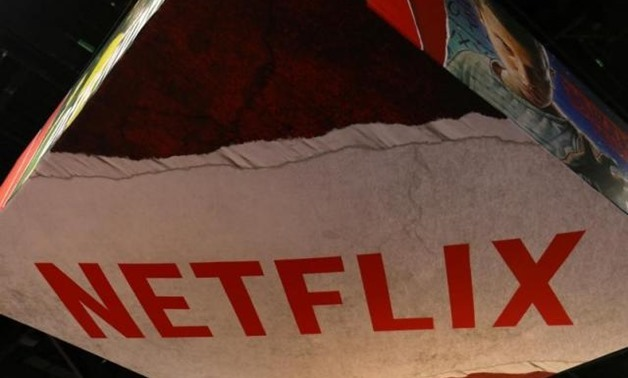 The Netflix logo is shown above their booth at Comic Con International in San Diego, California, U.S., July 21, 2017. REUTERS/Mike Blake.