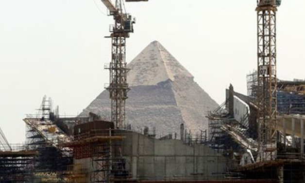 Cranes Rise At The Site Of Egypt's Grand Museum, Near The Historical Site Of The Giza Pyramids Just Outside Of Cairo - AP