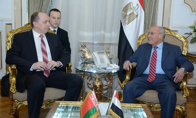 Military Production Minister Mohamed al-Assar, during his meeting with Belarusian Industry Minister Vitaly M. Vovk