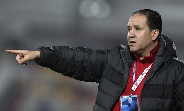 Nabil Maaloul, former head coach of Qatar's El Jaish, gestures during their AFC Champions League soccer match against Iran's Foolad in Doha February 25, 2014. REUTERS/Fadi Al-Assaad
