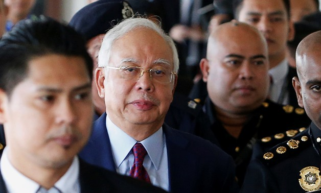 Former Malaysian prime minister Najib Razak arrives in court in Kuala Lumpur, Malaysia July 4, 2018. REUTERS/Lai Seng Sin