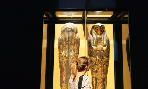 The Ancient Egypt exhibition held in Monaco- photo courtesy of the Grimaldi Forum Monaco facebook page