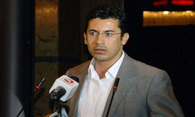 File- Egypt's minister of youth and sports, Ashraf Sobhy