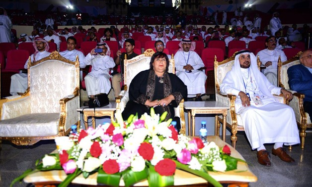 Minister of Culture, Inas Abdel Dayem, attended Tuesday the closing ceremonies of the cultural and artistic activities presented by Egypt as the honor guest at the 12th edition of  Souk Okaz Festival-The Supreme Council of Culture's official Facebook