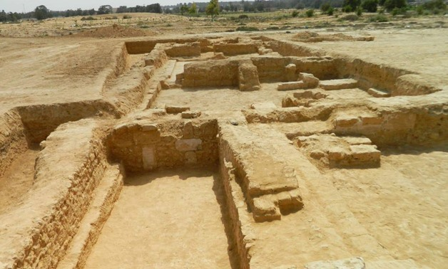 The Egyptian archaeological mission uncovered during rescue excavations, carried out in Mitt Abu al-Kom, an archaeological site-Ministry of Antiquities'official Facebook page