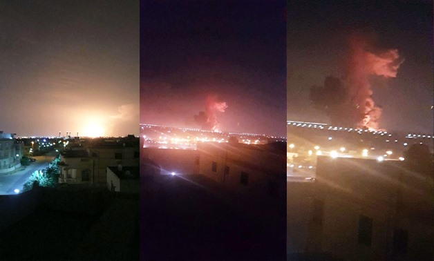 The fire broke out at the Heliopolis For Chemical Industries Company – Eyewitness photos