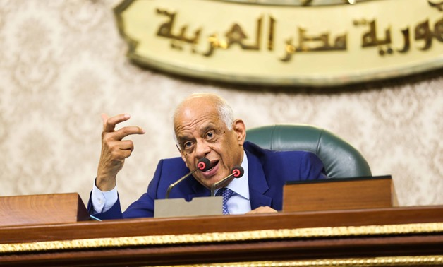 House of Representatives Speaker Ali Abdel-Aal at Monday session, July 16, 2018- Egypt Today/Hazem Abdel-Samad