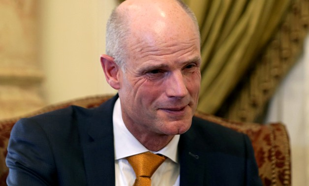 FILE PHOTO: Dutch Foreign Minister Stef Blok attends a meeting with Egypt's Foreign Minister Sameh Shoukry in Cairo, Egypt May 10, 2018. REUTERS/Mohamed Abd El Ghany