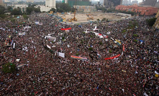 Egyptians gather in Tahrir Square - File Photo